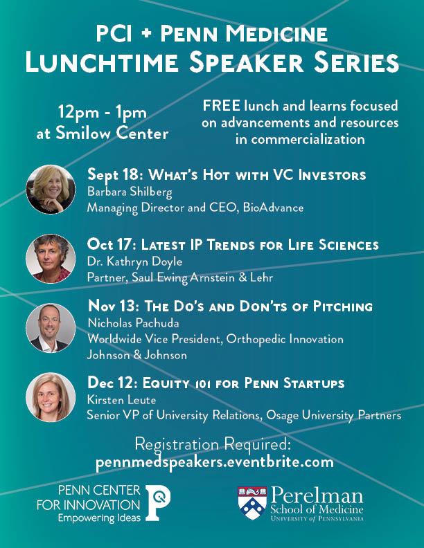 Flyer for Penn Med Speaker Series