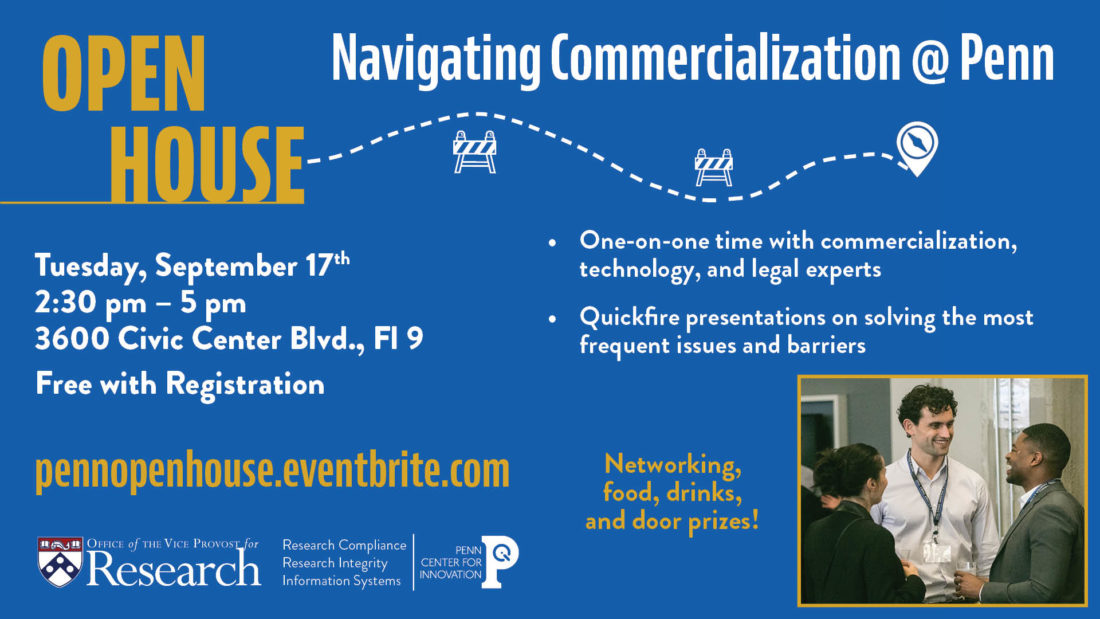Navigating Commercialization at Penn: Open House
