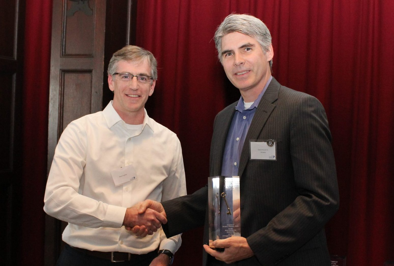Mark Engleka presenting an award at the Celebration of Innovation