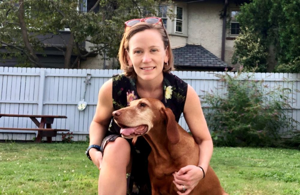 Melissa and one of her pets